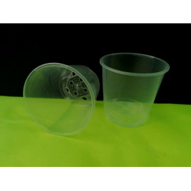 Transparent pot with 9 cm...