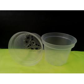 Transparent pot with 17 cm...