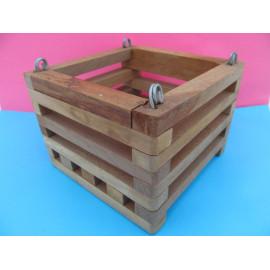 Beech square basket 15 cm