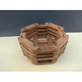 Octagonal basket 18 cm