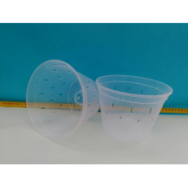 Transparent pot with holes...